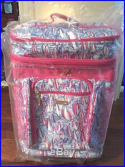 NWT Lilly Pulitzer Red Right Return Rolling Cooler GWP 18 Tall