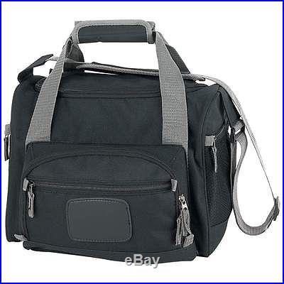 New BLACK COOLER Removable Insulated LUNCH BAG & ZIP-OUT LINER & Shoulder Strap
