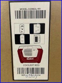 New Coolest Cooler Red Color + Bluetooth Speaker & Blender Etc
