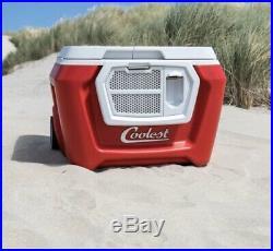 New Coolest Cooler Red Color + Bluetooth Speaker No Blender