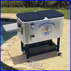 New Huge Rolling 130 Can Party Cooler 100 Quart Stainless Steel Patio Ice Chest