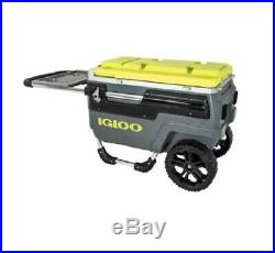 New Igloo Trailmate Marine Roller Cooler Ice Chest Charcoal