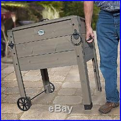 New Outdoor Rolling Party Cooler with Stand Portable Ice Chest Bucket Tub