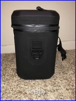 New! Pelican Elite 12 Can Soft Side Cooler. Black SC12. Tizip Waterproof