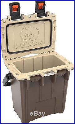 New Pelican Elite 20QT Marine Cooler/Ice Chest Made in USA #20Q-2-BRNTAN