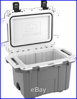 New Pelican Elite 50QT Marine Cooler/Ice Chest Made in USA #50Q-1-DKGRYWHT