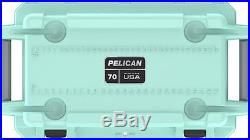 New Pelican Elite 70QT Marine Cooler/Ice Chest Made in USA #70Q-1-SEAFOAMGRY