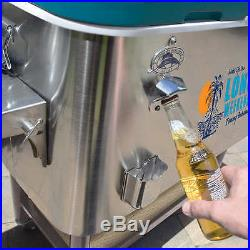 New Tommy Bahama 100 Quart Stainless Steel Rolling Cooler
