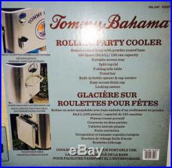 New Tommy Bahama Rolling Party Cooler 100 Quart