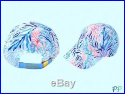 Nwt Lilly Pulitzer Set Kaleidoscope Coral Cooler And Run Around Hat Crew Blue
