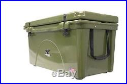 ORCA ORCG075 Durable Roto-Molded Cooler, Green, 75-Qt Capacity