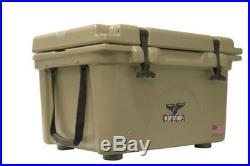 ORCA ORCT026 Durable Roto-Molded Cooler, Tan, 26 Qt Capacity