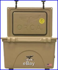 Orca Coolers ORCT040 Insulated 40 QT TAN Ice Chest Cooler NEW