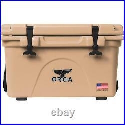 Orca Orct026 Cooler, 26 Qt Cooler, Tan
