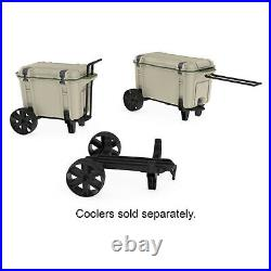OtterBox All-Terrain Wheels Cooler Accessory for Venture 45 & 65 Coolers, Black