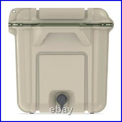 OtterBox Venture Outdoor Camping Fishing Cooler 65-Quarts, Tan/Green (For Parts)