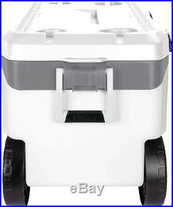 Outdoor 90 Quart Rolling Cooler Igloo Camping Holds 137 Cans All Terrain Durable