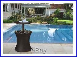 Outdoor Bar Table Cooler Patio Deck Pool Cocktail Party Furniture Ice Beer Chest