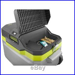 Outdoor Cooling Kit Cordless Towing Handle Wheels Cooler Chest Box Wheels