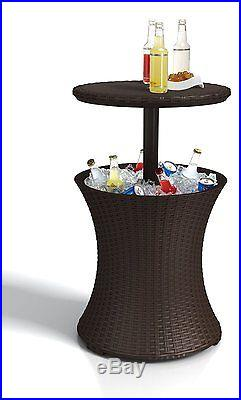 Outdoor Indoor Cooler Ice Beverage Table Tray Cool Bar Pool Party Patio Deck