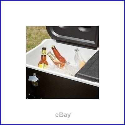 Outdoor Patio Cooler Party Ice Beer Rolling Chest Beverage Drink Football BBQ