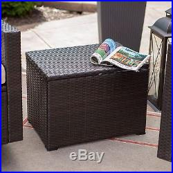 Outdoor Wicker Cooler Patio Ice Chest Bar Party Pool Beverage Portable Cabinet