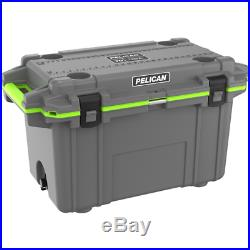 PELICAN 70QT Elite Cooler Dark Gray/Green TAX FREE