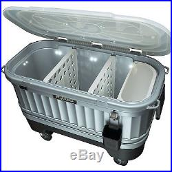 Party Bar Cooler Pool Ice Chest Storage Outdoor Deck BBQ Patio Camping Rolling