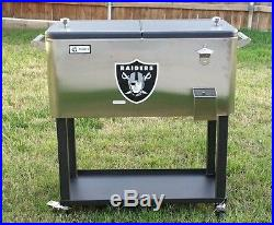 Patio Ice Chest Raiders Stainless Steel 80 Quart Party Cooler