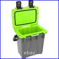 Pelican 20 Qt Elite Cooler, Hand Carry, Dark Gray/Green #20Q-1-DKGRYEGRN