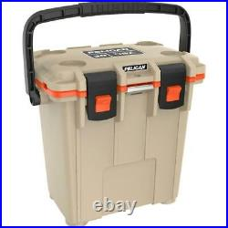 Pelican 20 Qt Elite Cooler, Hand Carry, Tan/Orange #20Q-2-TANORG