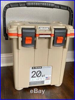 Pelican 20 Quart Elite Cooler, Green/Tan