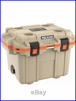 Pelican 30QT Elite Cooler 30 Quart -Tan/Orange- (30Q-2-TANORG)