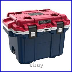 Pelican 30QT Elite Cooler Extreme Ice Retention Americana Red White Blue