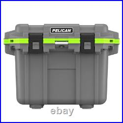 Pelican 30QT Elite Cooler Extreme Ice Retention Bottle Opener Gray Green
