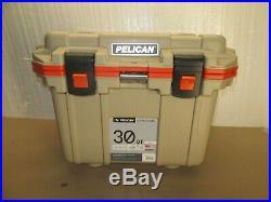 Pelican 30QT Elite Cooler Tan / Orange