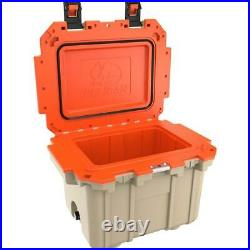 Pelican 30 Qt Elite Cooler, Hand Carry, Tan/Orange #30Q-2-TANORG