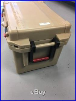 Pelican 45 QT Tan Cooler with Spigot