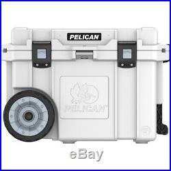 Pelican 45 Quart Elite Wheeled Cooler, White, 45QW-1-WHT