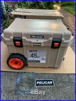 Pelican 45 Quart Wheeled Tan Cooler