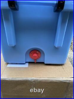Pelican 45 Quart White Cooler (Blue) 825494063580