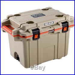 Pelican 50q-2-tanorg Coolers IM 50 Quart Elite Tan/orange