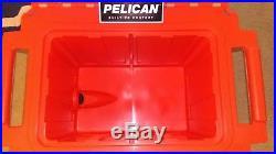 Pelican 50qt Elite Cooler 50 Quart Tan and Orange Brand New, Never Used