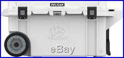 Pelican Cooler 80QT 80QW Wheels Lifetime guarantee Free Koozie Made in the USA
