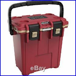 Pelican Elite 20 Quart Cooler, Canyon Red with Tan Interior, 20Q-7-CNREDCOY