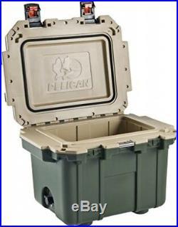 Pelican Elite 30 Quart Cooler (Green/Tan)