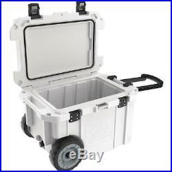 Pelican Elite 45 qt. Heavy Duty Wheeled Outdoor Cooler- White 45QW-1-WHT