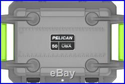 Pelican Elite 50qt Cooler Grey/Green