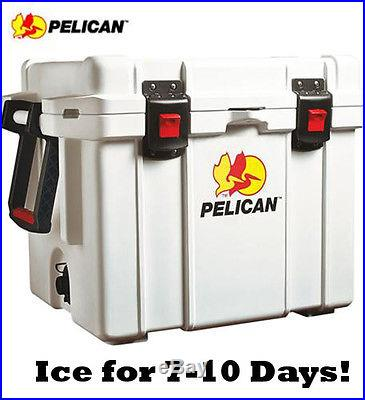 Pelican ProGear Elite Cooler Boat Marine Camping 35 Quart White 32-35Q-MC-WHT