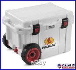 Pelican ProGear Wheeled Elite Cooler 45 Quart White ATV UTV Off road